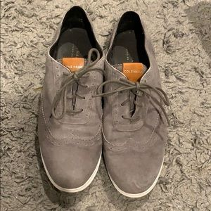 Cole Haan gray shoes.